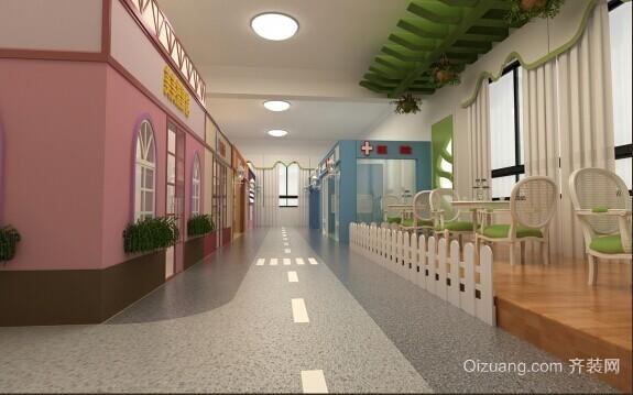自然轻快简约的幼儿园装修效果图