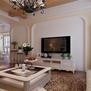 客厅电视墙清丽型