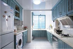 地中海风格开放式厨房装修效果图