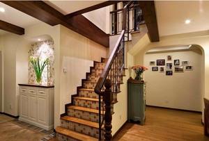 美式复式楼梯装修效果图
