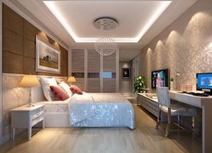 简约两厅室卧室效果图