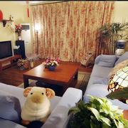 美式吊顶小客厅