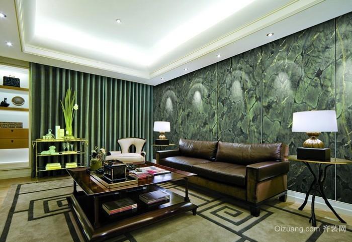 欧式客厅石英背景墙效果图