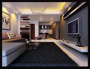 现代三室一厅120平米客厅吊顶装修效果图