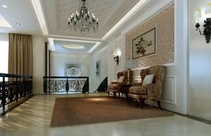 大户型简欧风格客厅玄关设计装修效果图