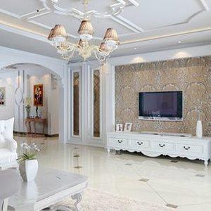 120平米简欧风格复式楼客厅装修效果图
