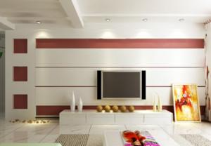 三室一厅客厅电视墙背景效果图