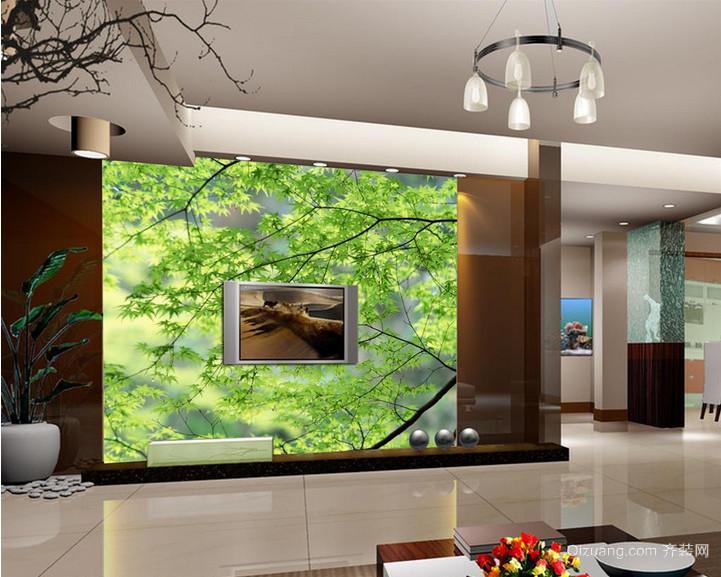 100平米客厅电视背景墙装修效果图