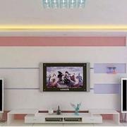 简约电视墙粉色款