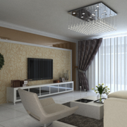 三居室客厅电视墙小户型