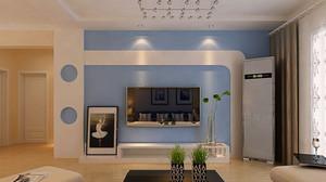 宜家现代风格电视背景墙装修效果图