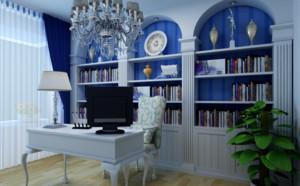 地中海小书房装修效果图