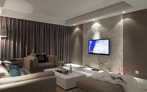 现代简约风格客厅吊顶大理石背景墙装修效果图