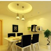 简约餐厅吊顶灯具设计