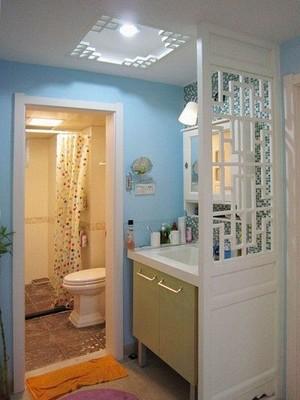 现代简约风格100平米房屋卫生间隔断装修效果图