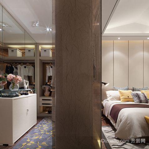 单身公寓步入式衣帽间装修设计效果图