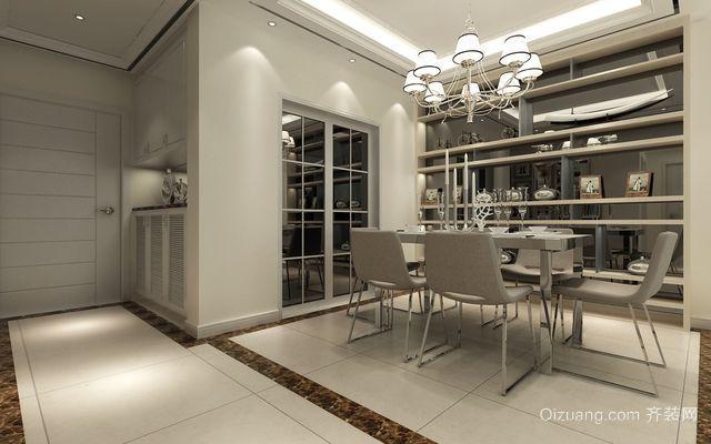 三室一厅现代简约风格客厅酒柜设计效果图