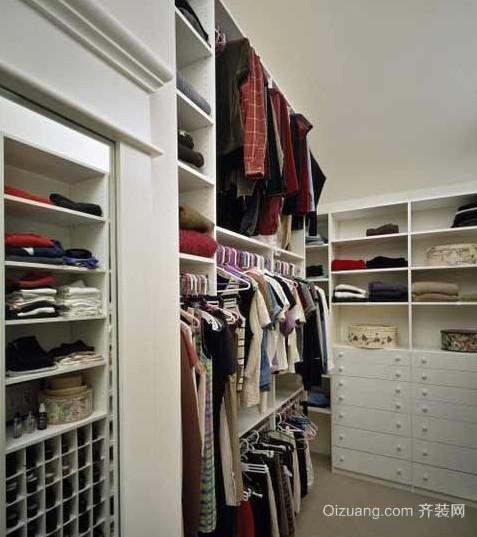 家装卧室步入式衣帽间装修效果图