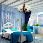 小户型地中海公寓卧室卡通款
