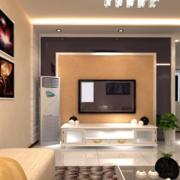 三居室客厅电视墙大户型