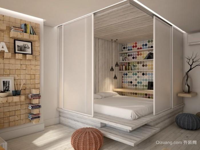 小户型女士单身公寓卧室图片