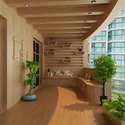 阳台原木色