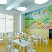 幼儿园白色桌椅