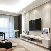 客厅电视墙白色款