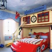 汽车造型儿童房