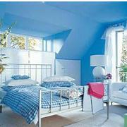 小户型地中海公寓卧室穿色款
