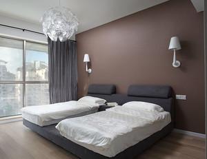 现代简约一室一厅小户型卧室榻榻米床装修效果图