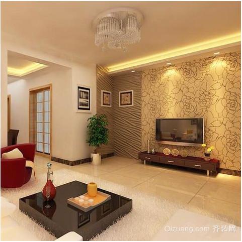 现代简约客厅照片墙装修效果图