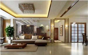 现代简约复式楼客厅吊顶装修设计效果图