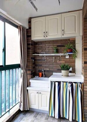 现代风格小户型阳台装修效果图