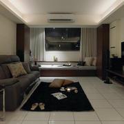 客厅飘窗窗帘棕色款