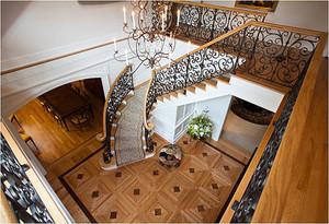 复古风格小别墅楼梯装修效果图