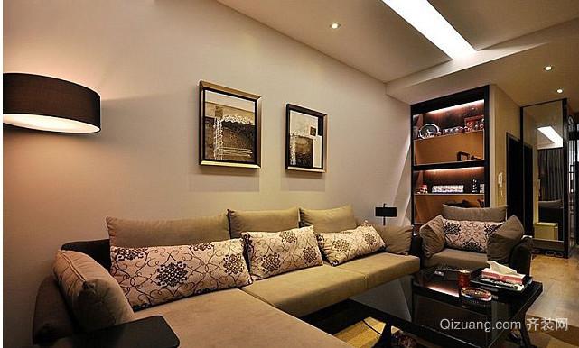 大户型客厅布艺沙发背景墙装修效果图
