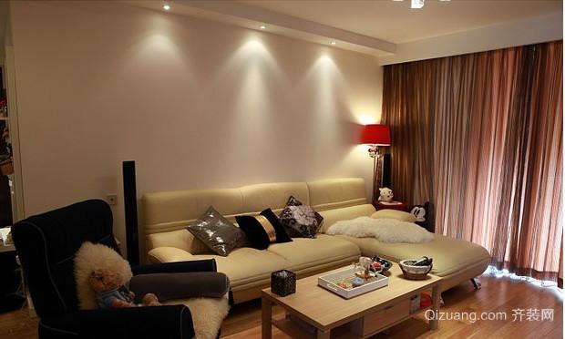 现代简约风格客厅背景墙装修风格效果图
