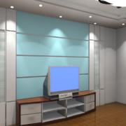 三居室客厅电视墙现代款