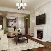 客厅电视墙简洁优雅款