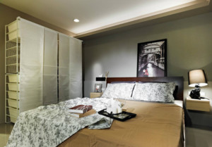 100平米两居室现代简约卧室装修效果图