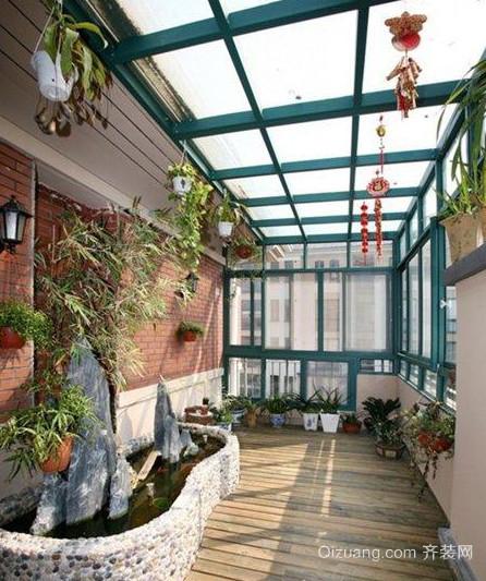 现代简约风格小户型阳台装修效果图