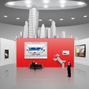 灰色调展厅效果图片