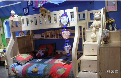 双胞胎儿童卧室上下床装修效果图