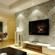 自然风格电视背景墙