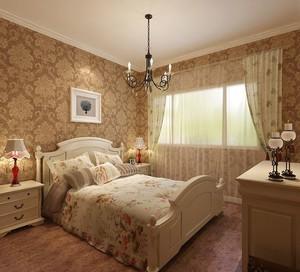 两室一厅美式古典风格卧室装修效果图