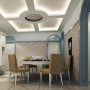 简朴型餐厅吊顶图片