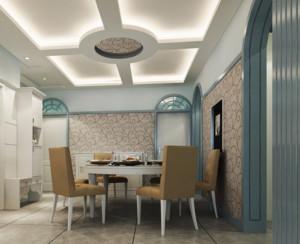 自建别墅欧式餐厅吊顶装修效果图