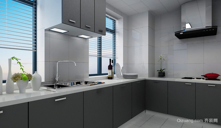简欧现代风格厨房设计装修效果图