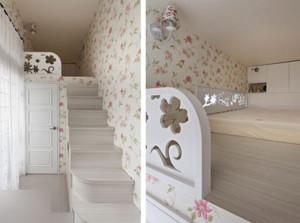 全新韩式田园风格别墅楼梯装修效果图